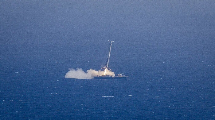 SpaceX, atterrissage lanceur