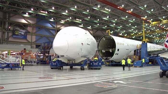 construction, avion, boeing-787-9 Dreamliner