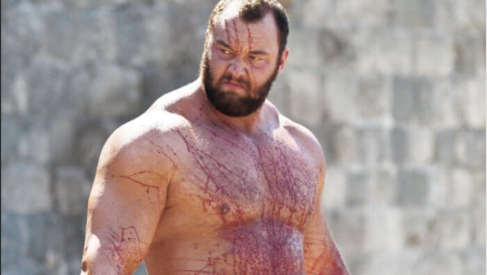 Hafthor Bjornsson, La Montagne, homme le plus fort d'europe